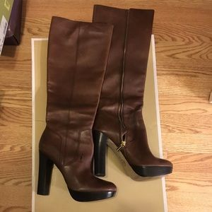 Michael lora high knee boots brown worn once 7.5